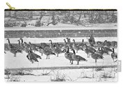 Snow And Geese On The River II Carry-all Pouch