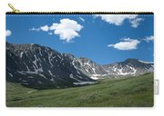Snow And Mountains And Grass Carry-all Pouch