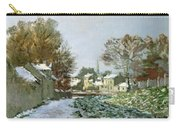 Snow At Argenteuil Carry-all Pouch by Claude Monet
