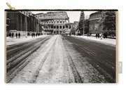 Snow At The Colosseum - Rome Carry-all Pouch