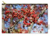 Snow Berries Carry-all Pouch