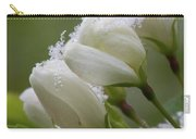 Snow Blossoms Carry-all Pouch