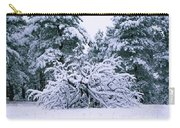 Snow Burdened Tree In The Flatirons Carry-all Pouch