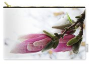 Snow Capped Magnolia Blossoms Carry-all Pouch