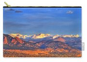 Snow-capped Panorama Of The Rockies Carry-all Pouch by Scott Mahon