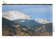 Snow Capped Pikes Peak Colorado Carry-all Pouch