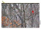 Snow Cardinal Carry-all Pouch