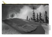 Snow Circle In The Mountains Carry-all Pouch