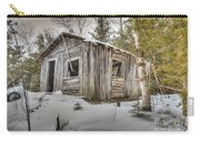 Snow Covered Abandon Cabin Carry-all Pouch