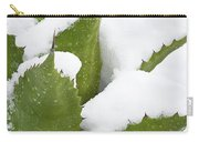 Snow Covered Agave Carry-all Pouch