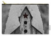 Snow Covered Birdhouse Carry-all Pouch