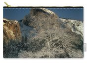 Snow-covered Black Oak Half Dome Yosemite National Park California Carry-all Pouch