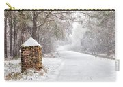 Snow Covered Brick Pillar Carry-all Pouch