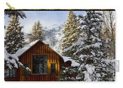 Snow Covered Cabin Carry-all Pouch