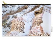 Snow Covered Cactus Below Mount Whitney Eastern Sierras Carry-all Pouch