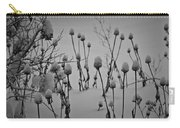 Snow Covered Coneflowers Carry-all Pouch
