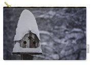 Snow Covered Elf Birdhouse Carry-all Pouch