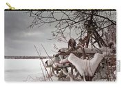 Snow Covered Farming Equipment Carry-all Pouch