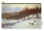 Snow Covered Fields With Sheep Carry-all Pouch