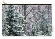 Snow-covered Forest, Wisconsin, Usa Carry-all Pouch