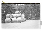Snow Covered Hay Bales Carry-all Pouch