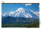 Snow-covered Mount Mckinley, Blue Sky Carry-all Pouch