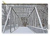 Snow Covered Pony Bridge Carry-all Pouch