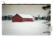 Snow Covered Red Barn Carry-all Pouch