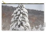 Snow Covered Spruce Carry-all Pouch