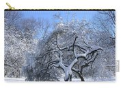 Snow-covered Sunlit Apple Trees Carry-all Pouch