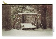 Snow Covered Swing Carry-all Pouch