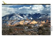 Snow Covered Utah Mountain Range Carry-all Pouch