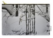 Snow Covered Wisteria Arch Carry-all Pouch