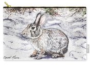 Snow Day Bunny Carry-all Pouch