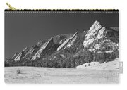 Snow Dusted Flatirons Boulder Co Panorama Bw Carry-all Pouch
