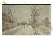 Snow Effect Carry-all Pouch by Claude Monet