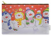 Snow Family Carry-all Pouch by Diane Matthes