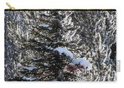 Snow Flocked Pines One Carry-all Pouch