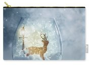 Snow Globe For Christmas With Reindeer Carry-all Pouch