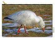 Snow Goose Feeding In A Field Carry-all Pouch