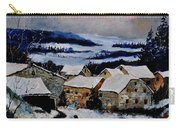 Snow In Ardennes 79 Carry-all Pouch