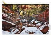 Snow In The Canyons Carry-all Pouch