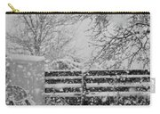Snow In The Country Carry-all Pouch