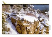 Snow In The Park Acadia Maine Carry-all Pouch