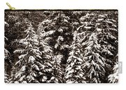 Snow-laden Forest Carry-all Pouch