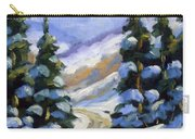 Snow Laden Pines Carry-all Pouch