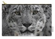 Snow Leopard 5 Posterized Carry-all Pouch