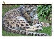 Snow Leopard, Doue-la-fontaine Zoo, Loire, France Carry-all Pouch