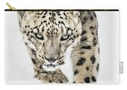 Snow Leopard On The Prowl X Carry-all Pouch