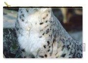 Snow Leopard Uncia Uncia Portrait Carry-all Pouch